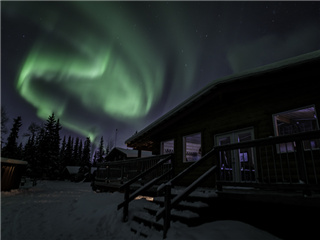 Aurora Viewing Lodge Tour from Fairbanks...