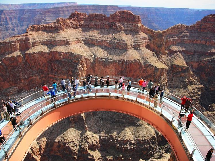 Hoover Dam Tours >> 1 Day Grand Canyon West Rim Hoover Dam Skywalk Tour From