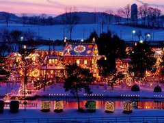 1-Day Christmas Village, Adventure Aquarium, Longwood Gardens Tour from New York