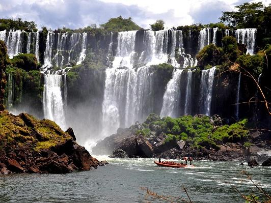 Boat Ride Under Iguazu Falls