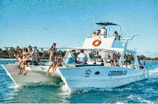 Side By Side Caribbean Sea Catamaran Tour from Punta Cana