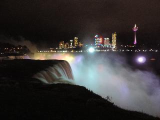 new york, niagara falls, illumination