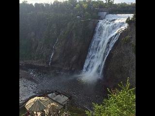 canada, quebec, montmorency falls