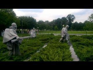 washington dc, dc, korean war veterans memorial