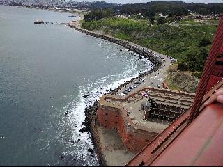 sea, GGB, Bridge, California