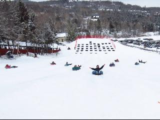 vermont, green mountain national forest, mount snow, snow tubing