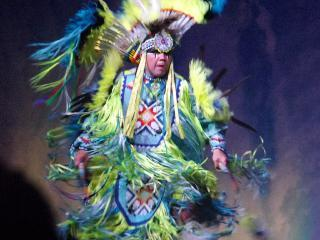 new york, niagara falls, thundering water cultural show
