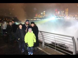 new york, niagara falls, night