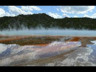 wyoming, yellowstone, grand prismatic hot spring