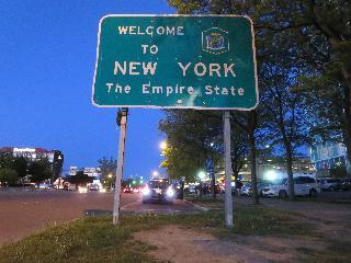 new york, welcome to new york sign