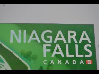 canada, niagara falls, sign