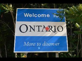 canada, ontario, welcome sign