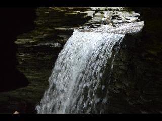 new york, watkins glen state park, waterfall