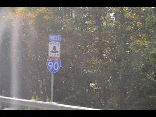 massachusetts, highway sign