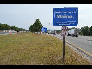 maine, kennenbunk, welcome sign