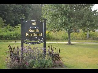 maine, south portland, welcome sign