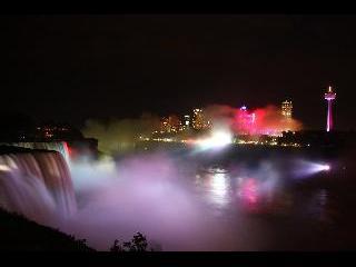 Niagara Fall, night