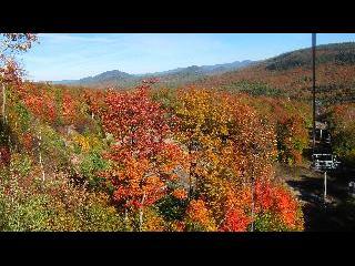 new york, adirondack park, whiteface mountain, gondola ride, fall foliage