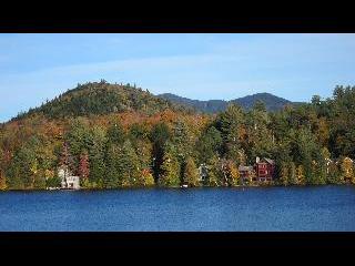 new york, lake placid town, lake placid, fall foliage