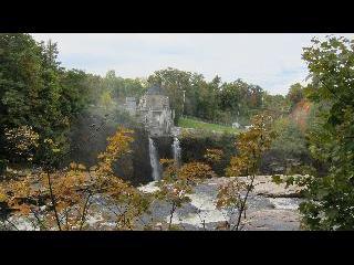 new york, ausable chasm, fall foliage