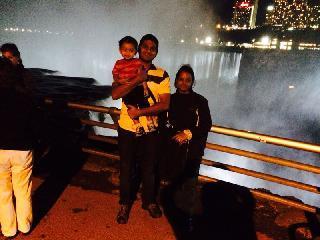 Niagara falls, niagara, new york, night view