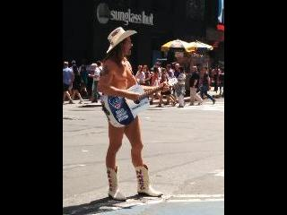 new york, naked cowboy