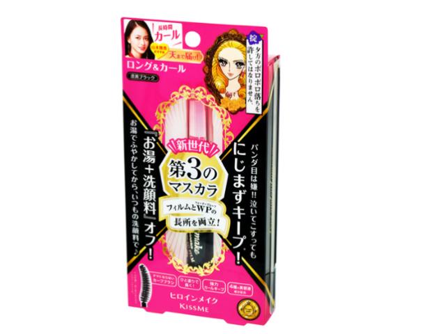 KISSME HEROINE MAKE Long and Curl Mascara Advance Film 01 Jet Black, 1 pc
