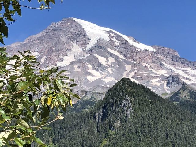 Glaciers on top of Mt Rainier