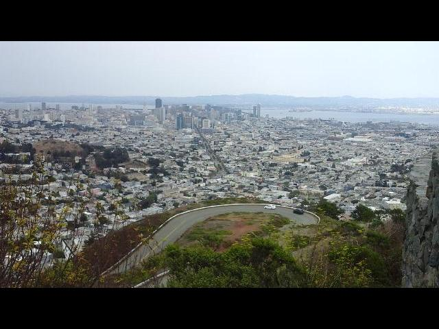 A view from Twin Peaks Summit, San Francisco