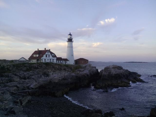 Sunset time at Portland light house