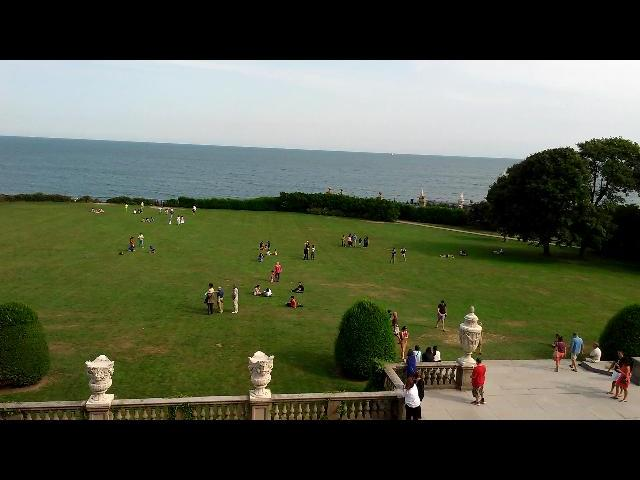 View of Atlantic Ocean from The Breakers Mansion