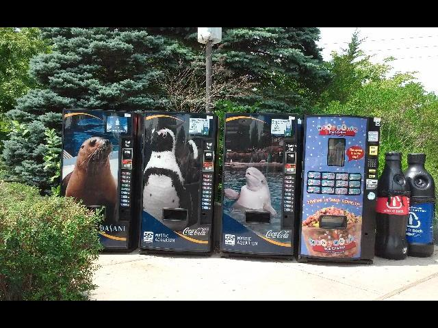 Nice vending machines in Mystic Aquarium