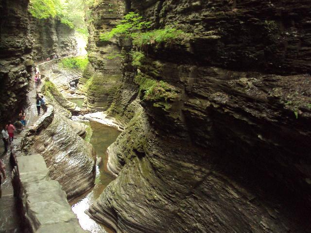 Watkins Glen State Park, a prime example of the effects of glaciation.