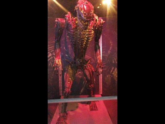 This is one of Alien robot Exhibit  in the  Museum of Science