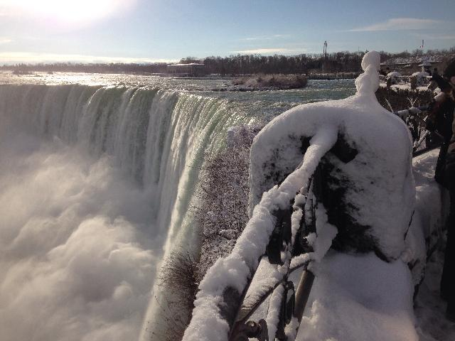 Horseshoe fall winter time