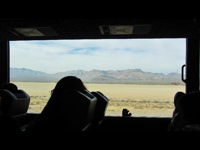 view from the bus window - Nevada road