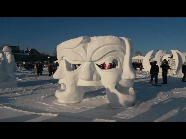 Snow sculpture - Quebec Winter Carnival