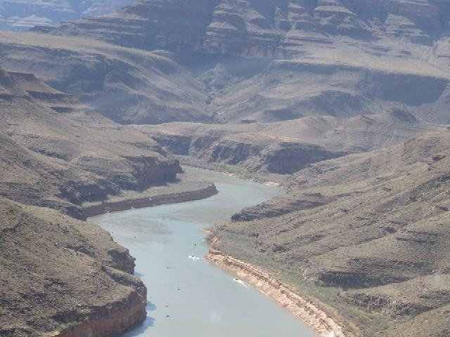 Grand Canyon and Colorado River from Helicopter