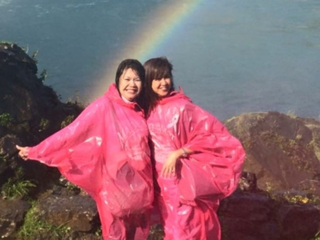 Touch the Rainbow at Niagara Falls