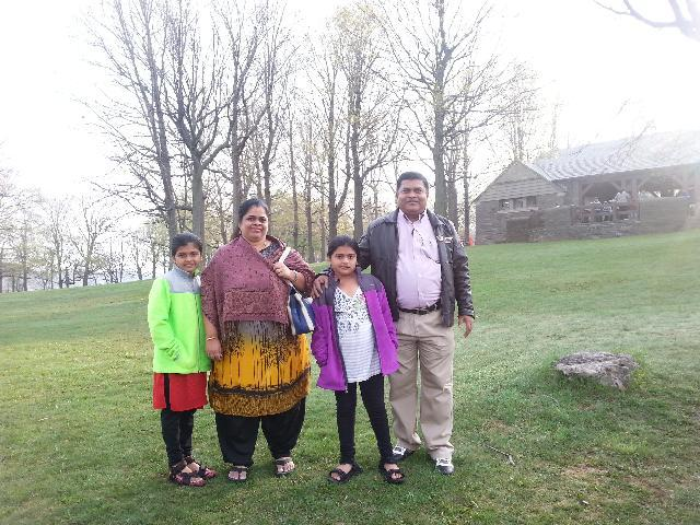 Me and my family at Niagara Fort on 5th May 2015