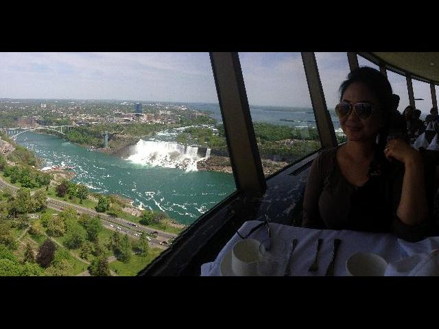 World Famous Revolving Dining Restaurant, the view to die for!!!!