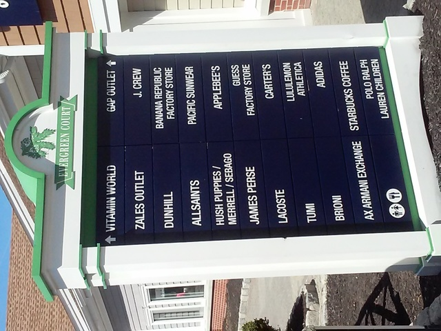 Stores names listed