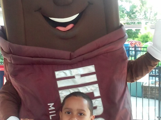 Having fun at Hershey Park