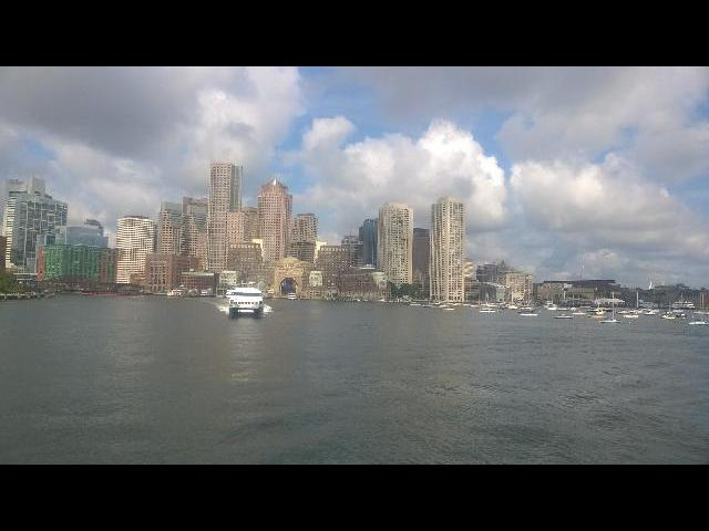 view of Boston city on cruise