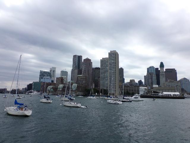 Boston Harbor Cruise. Gloomy and windy day but it was still lovely.