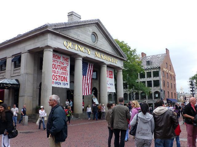 Quincy Market. Lots of good stuff inside. Foodies, beware!