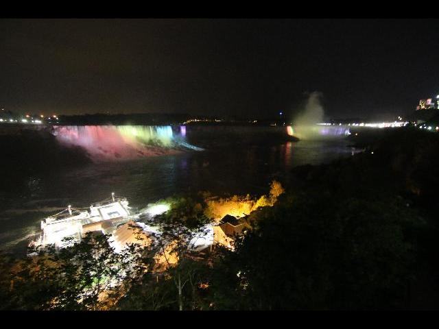 Niagara Fall at night