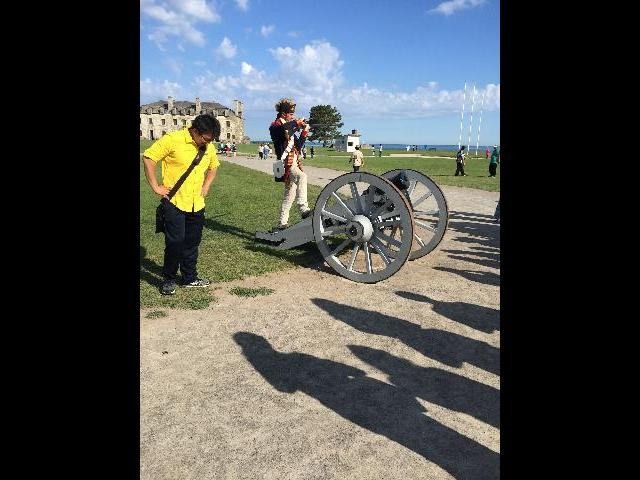 Our Tour Guide - Seige of the Fort Niagara