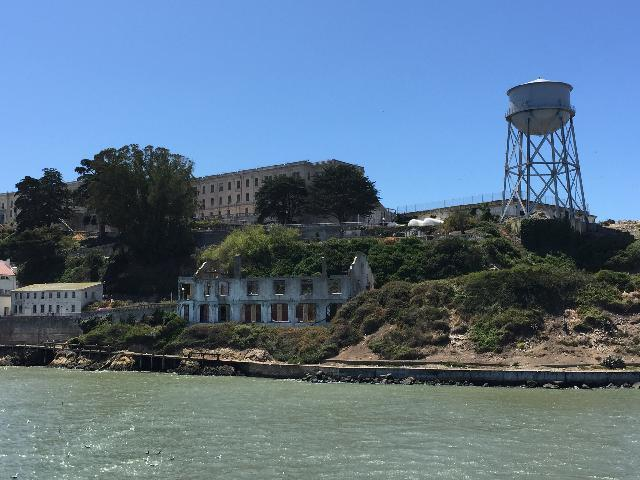 View of Alcatraz Island from cruise tour