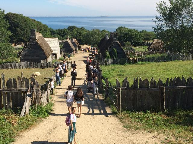 Plimoth Plantation Village.  Going back to the way of living in 1700's.